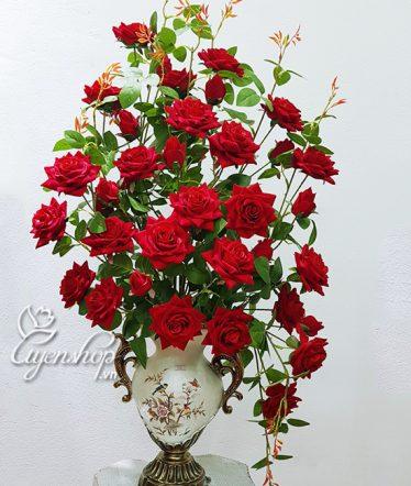 Hoa lụa, hoa giả Uyên shop, Nghệ thuật với Hoa Hồng Nhung