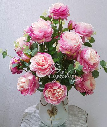 Hoa lụa, hoa giả Uyên shop, Hoa Hồng Tường Vi