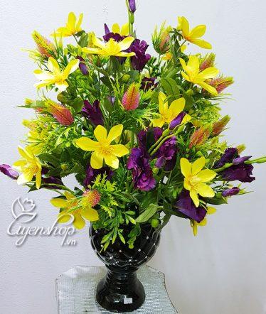 Hoa lụa, hoa giả Uyên shop, Bình Hoa Ngọc Lan
