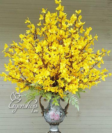 Hoa lụa, hoa giả Uyên shop, Bình Hoa Mai Mỹ