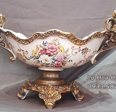 Hoa lụa, hoa giả Uyên shop, Đĩa Hoa Quả phong cách Châu Âu