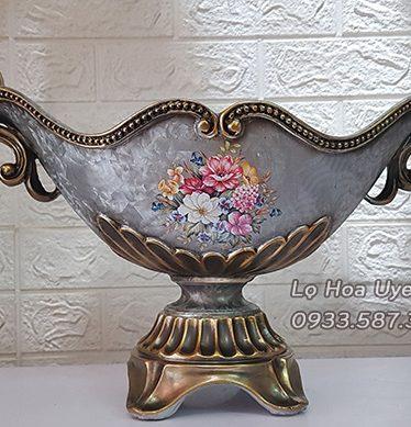 Hoa lụa, hoa giả Uyên shop, Đĩa Hoa Sang Trọng