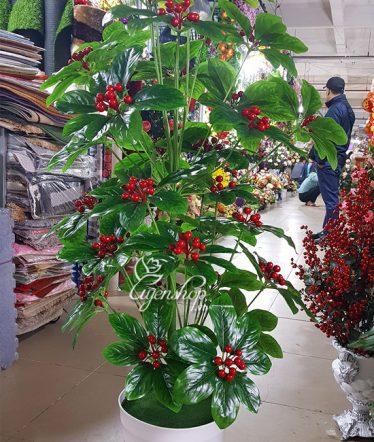 Hoa lụa, hoa giả Uyên shop, Cây Sơ Ri (Kim Ngân Lượng)