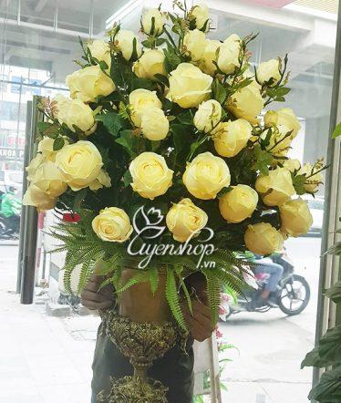 Hoa lụa, hoa giả Uyên shop, Sang trọng cùng Hoa Hồng