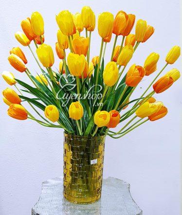 Hoa lụa, hoa giả Uyên shop, Vẻ đẹp Tulip nổi bật