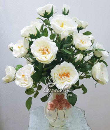 Hoa lụa, hoa giả Uyên shop, Trà trắng tinh khiết