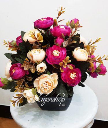 Hoa lụa, hoa giả Uyên shop, Hoa để bàn