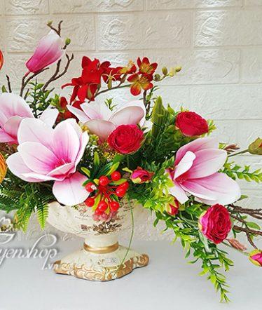 Hoa lụa, hoa giả Uyên shop, Hoa Mộc Lan xinh
