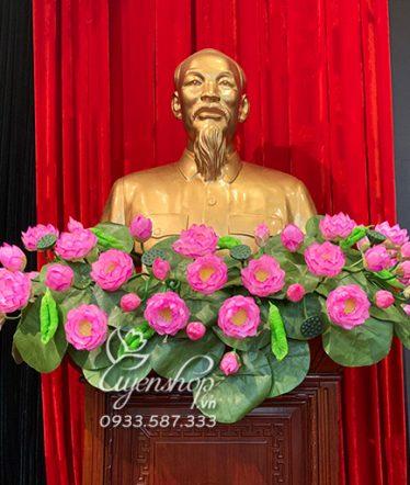 Hoa lụa, hoa giả Uyên shop, Hoa Bục Tượng Bác Hồ