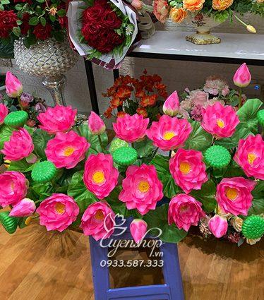 Hoa lụa, hoa giả Uyên shop, Hoa Trang Trí Tượng Bác