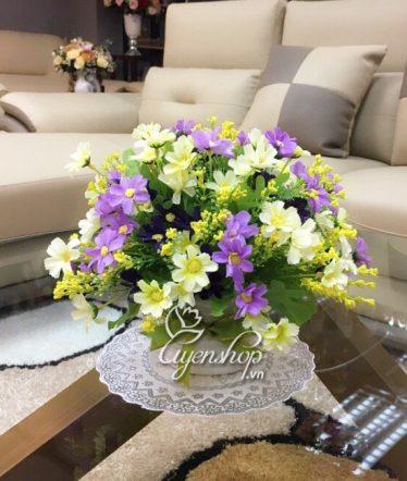 Hoa lụa, hoa giả Uyên shop, Cành hoa Thạch Thảo