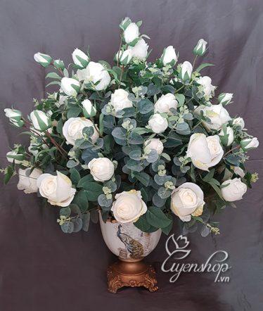 Hoa lụa, hoa giả Uyên shop, Vẻ đẹp Tinh Khiết