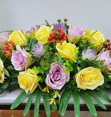 Hoa lụa, hoa giả Uyên shop, Lãng hoa để phòng họp