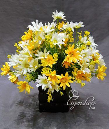 Hoa lụa, hoa giả Uyên shop, Hoa Nhỏ Để Bàn