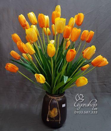 Hoa lụa, hoa giả Uyên shop, Bình Tulip xinh
