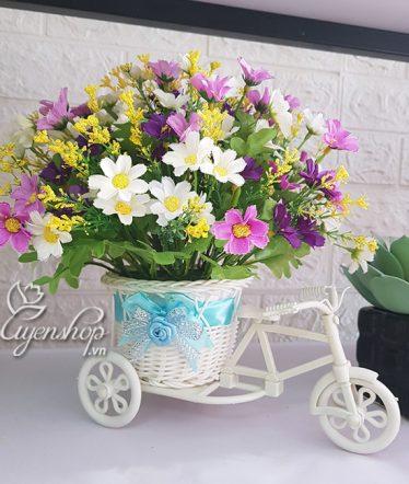 Hoa lụa, hoa giả Uyên shop, Xe đạp xinh