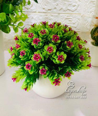 Hoa lụa, hoa giả Uyên shop, Chậu Hoa Bi xinh