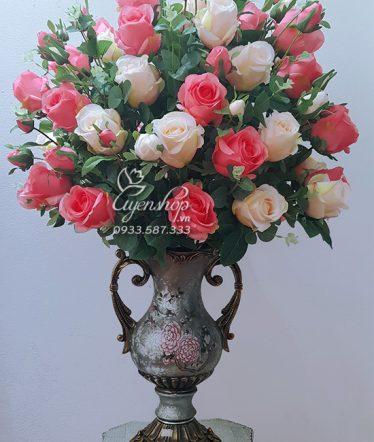 Hoa lụa, hoa giả Uyên shop, Bình Hoa Phòng Khách