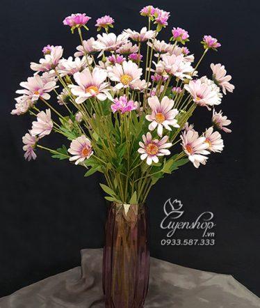 Hoa lụa, hoa giả Uyên shop, Cúc Họa Mi tím