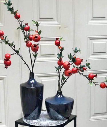 Hoa lụa, hoa giả Uyên shop, Cành Lựu