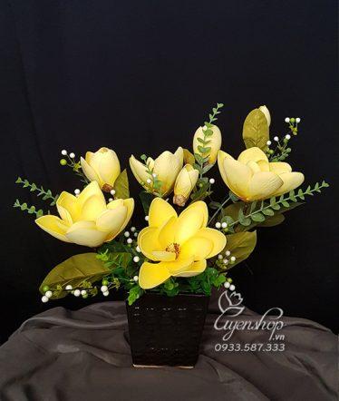 Hoa lụa, hoa giả Uyên shop, Vẻ Đẹp Hoa Mộc Lan