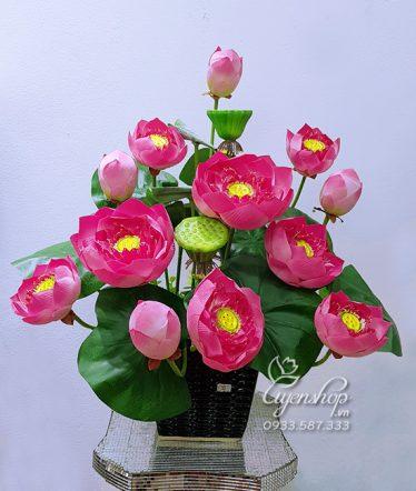 Hoa lụa, hoa giả Uyên shop, Bình Sen Thái