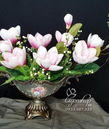 Hoa lụa, hoa giả Uyên shop, Thuyền hoa Nghệ Thuật