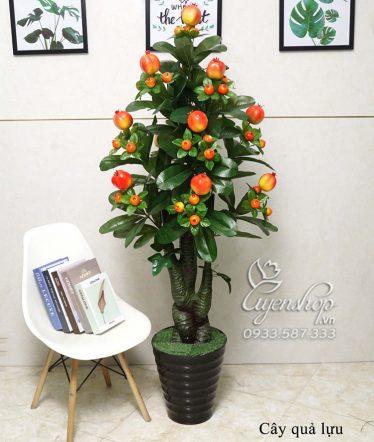 Hoa lụa, hoa giả Uyên shop, Cây Lựu Giả