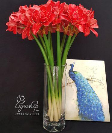 Hoa lụa, hoa giả Uyên shop, Kiêu Sa cùng Huệ Tây Đỏ