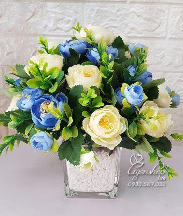 Hoa lụa, hoa giả Uyên shop, Hoa Để Bàn – Hoa Trà