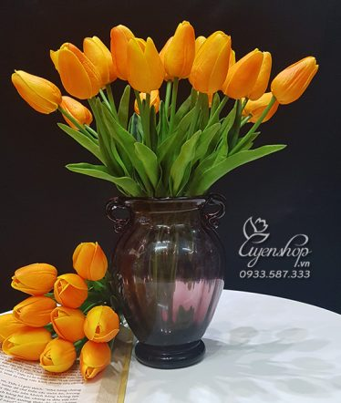 Hoa lụa, hoa giả Uyên shop, Rực Rỡ cùng Tulip