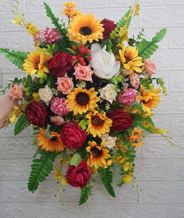 Hoa lụa, hoa giả Uyên shop, Hoa Bục Phát Biểu Nhỏ