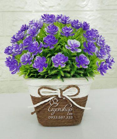 Hoa lụa, hoa giả Uyên shop, Chậu Hoa xinh