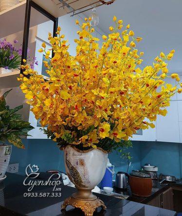 Hoa lụa, hoa giả Uyên shop, Sắc Vàng Sang Trọng