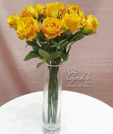 Hoa lụa, hoa giả Uyên shop, Hồng Xinh Để Bàn