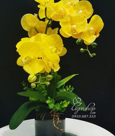 Hoa lụa, hoa giả Uyên shop, Bình Lan Vàng