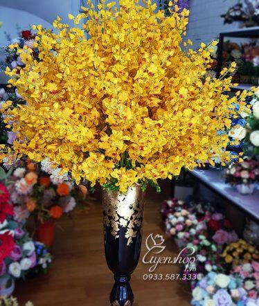 Hoa lụa, hoa giả Uyên shop, Bình Lan Vàng Lớn