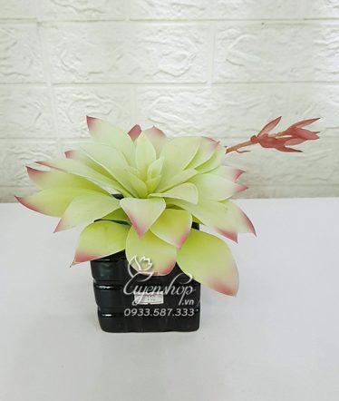 Hoa lụa, hoa giả Uyên shop, Cây Sen Đá Xinh