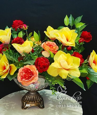 Hoa lụa, hoa giả Uyên shop, Thuyền Hoa Mộc Lan