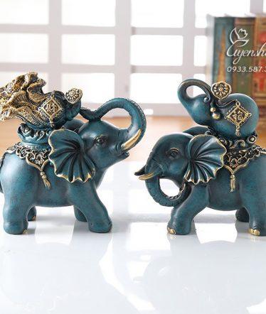 Hoa lụa, hoa giả Uyên shop, Đôi voi phú quý