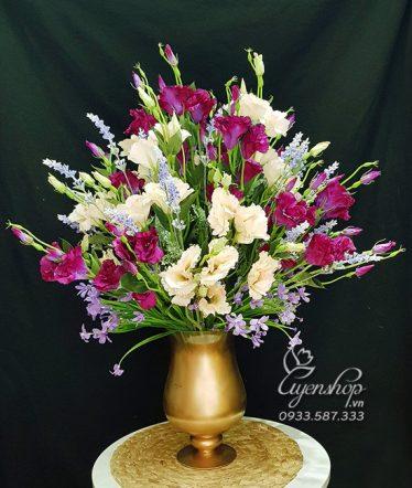 Hoa lụa, hoa giả Uyên shop, Bình Cát Tường May Mắn