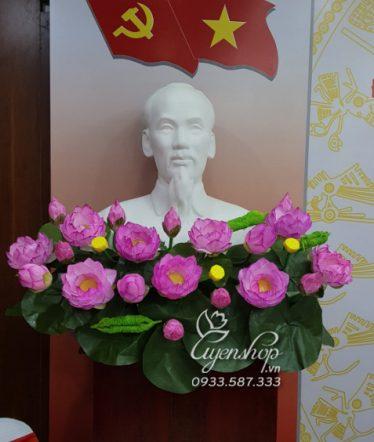 Hoa lụa, hoa giả Uyên shop, Hoa Lụa – Hoa Sen Tượng Bác