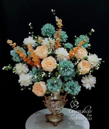 Hoa lụa, hoa giả Uyên shop, Hoa Lụa Phòng Khách