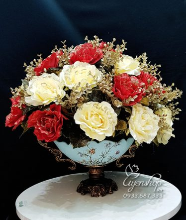 Hoa lụa, hoa giả Uyên shop, Phong Cách Châu Âu sang trọng