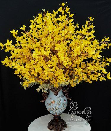 Hoa lụa, hoa giả Uyên shop, Sắc vàng Mai Mỹ