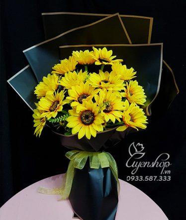 Hoa lụa, hoa giả Uyên shop, Bó Hoa Hướng Dương
