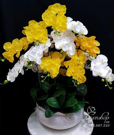 Hoa lụa, hoa giả Uyên shop, Sang Trọng cùng Lan Hồ Điệp