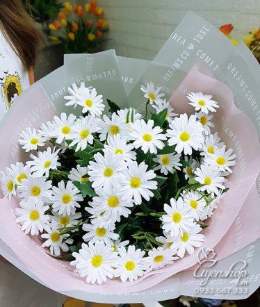 Hoa lụa, hoa giả Uyên shop, Bó hoa Cúc Họa Mi
