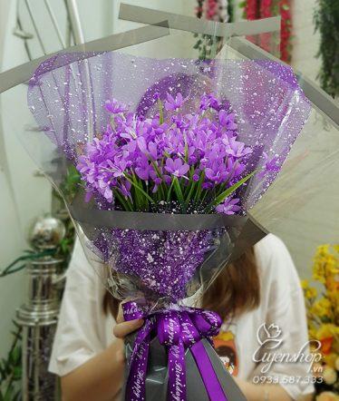 Hoa lụa, hoa giả Uyên shop, Bó Hoa Thủy Tiên