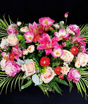 Hoa lụa, hoa giả Uyên shop, Hoa Bàn Họp Xinh